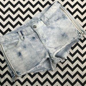 MK acid wash shorts